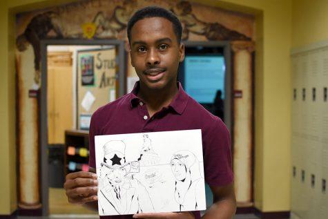Sophomore art student earns area journalism honor