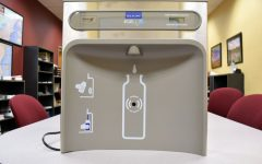 Maintenance to install updated water fountains, bottle filling stations
