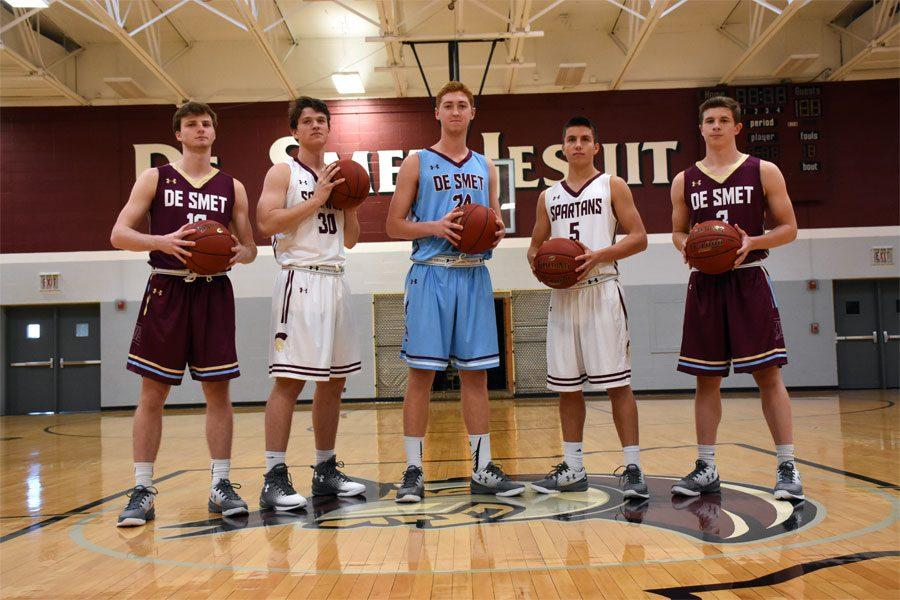 Seniors (left to right) Sean Skoff, Clayton Stephens, Ryan Stipanovich, Tommy Barton, and Michael Dunn.
