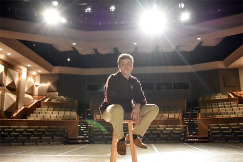 All the world is a stage for freshman actor
