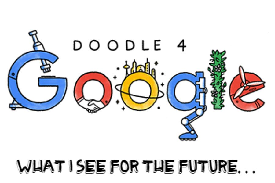 Art+students+participated+in+the+Doodle+4+Google+competition.