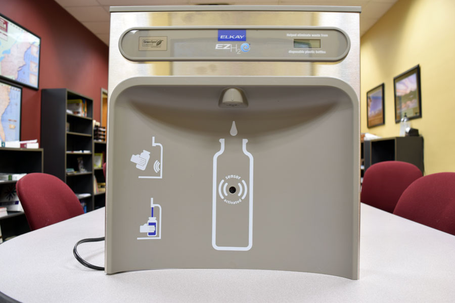 The new water fountains will be attached with a corresponding water bottle filler.