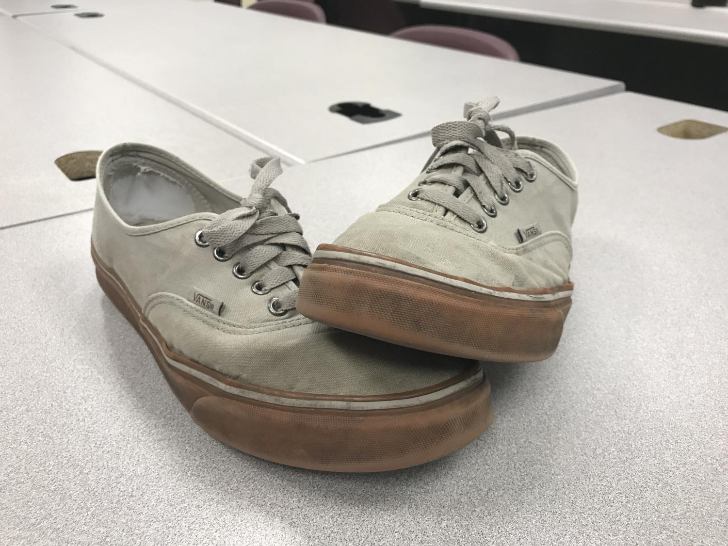 Vans are very popular among students but one student took it upon himself do make something of his own.