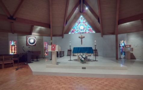 360° camera view of the Boian Chapel. Click on the story to see more views of campus.