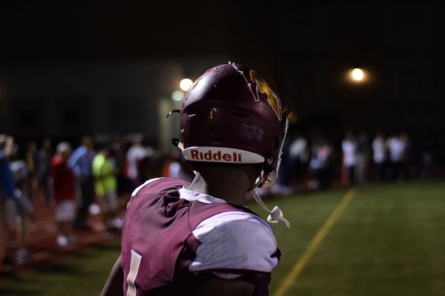 Junior Jordan Johnson looks onto the field versus Hazelwood Central on Aug. 24.