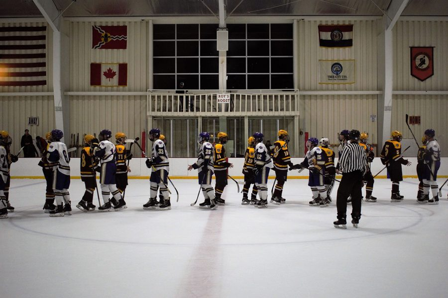 Both teams show great sportsmanship after CBC pulled out the win by one goal.