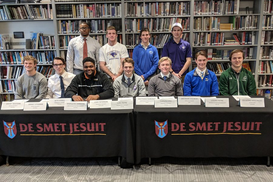 Eleven Spartans signed letters of intent Feb. 6 to continue playing their sport in college.