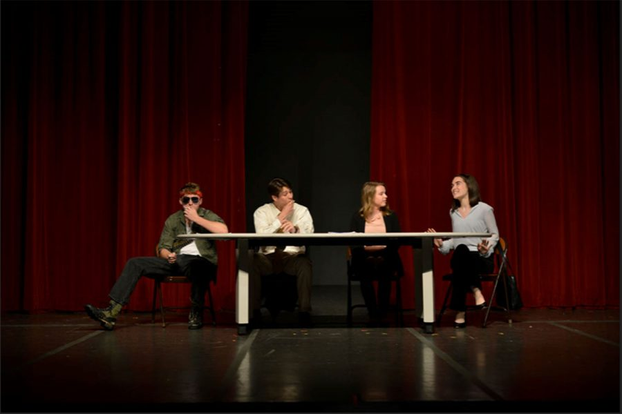 Directed by senior Jack Laurie, students perform his One-Act play called,