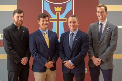 Meet the new teachers William Manaker, SJ; John Russell; Even Jenkins; George Howe.