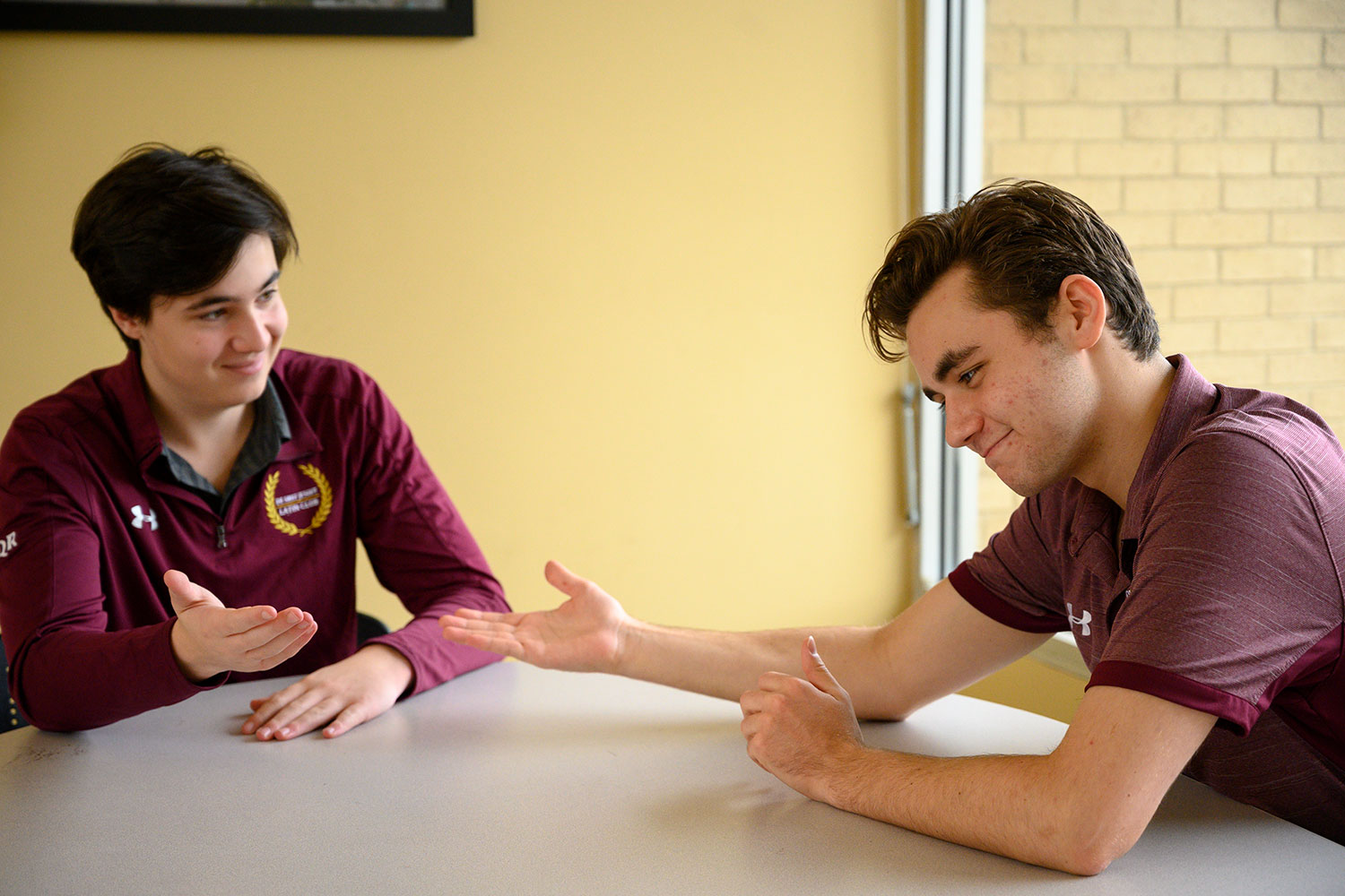 Juniors Connor Niebruegge and Will Griesemer talk politics and the penny.
