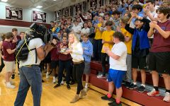 Students pack gym for early morning liveshot