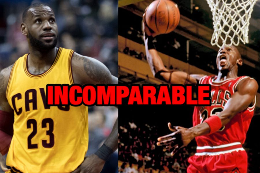 Michael Jordan and LeBron James are great examples of incomparable players
