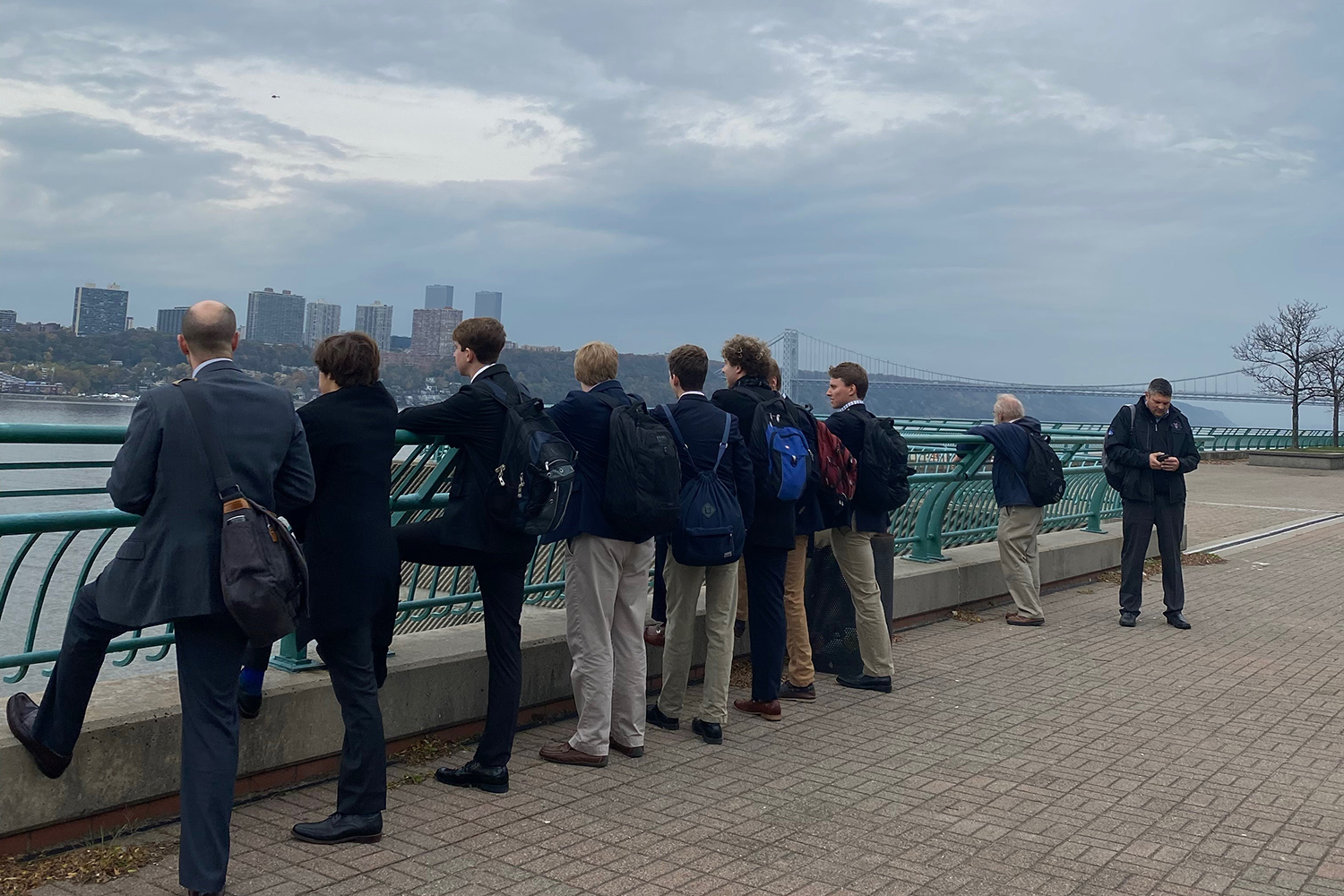 The group of students and faculty overlook the city at the beginning of their trip.
