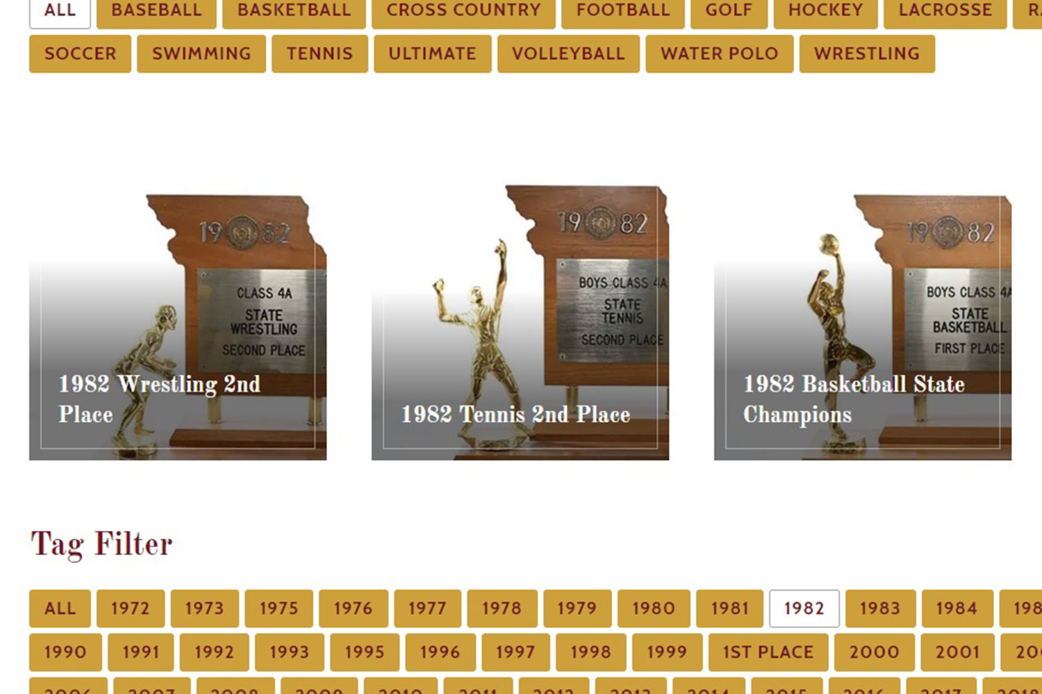 The De Smet website will feature a new page called the Trophy Room where every state trophy will be featured.