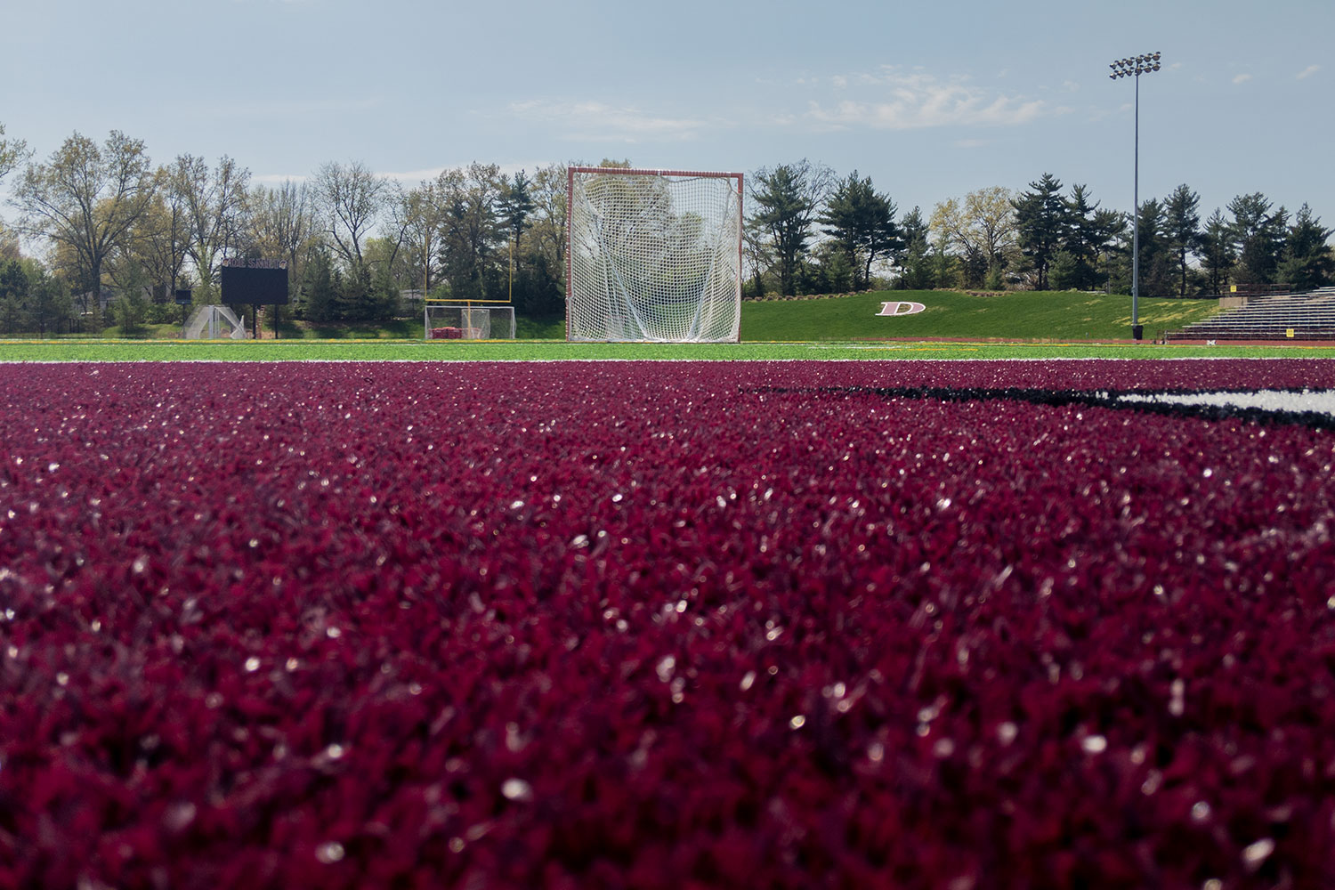 The turf sits empty after MSHSAA cancels the spring sports season.