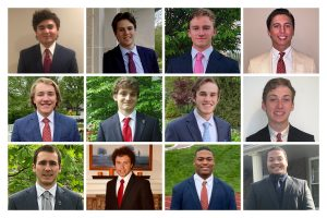These 12 seniors were named Men of the Year by the faculty and their peers.