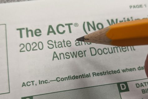 Seniors will take the ACT on campus Oct. 6. For many, it is the first time they will take the test due to Covid-19 restrictions.