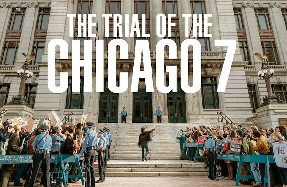 The Trial of the Chicago 7 is a movie based on a true story that takes place in the late 60's during a trial of seven people who were accused of conspiracy inciting a riot.
