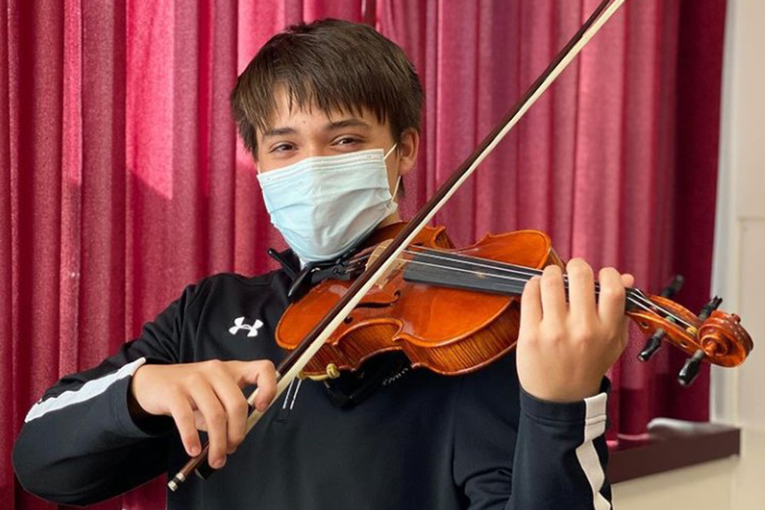 Junior Emmett Concannon is a  violinist who has traveled throughout Europe, played in a mariachi band, and played in an orchestra.