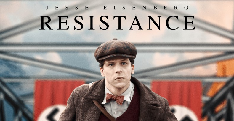 The movie Resistance takes place in France in 1938 and is about a former mime named  Marcel Marceau who eventually joins the resistance against the Nazis.